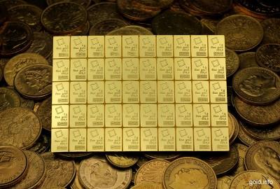 Goldbarren und -münzen als Wertanlage