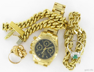 Gold Jewellery and Gold Watches